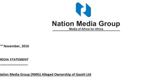 Nation Media Group (NMG) Alleged Ownership of Gazeti Ltd