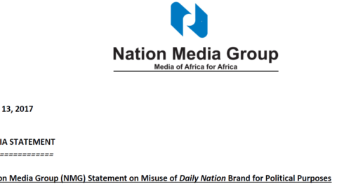 Nation Media Group (NMG) Statement on Misuse of Daily Nation Brand for Political Purposes