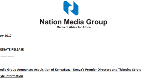 Nation Media Group Announces Acquisition of KenyaBuzz