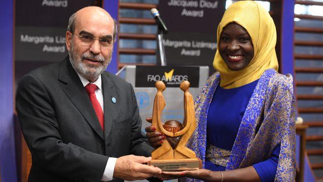NTV's Zeynab Wandati receives FAO's A.H Boerma Award in Italy